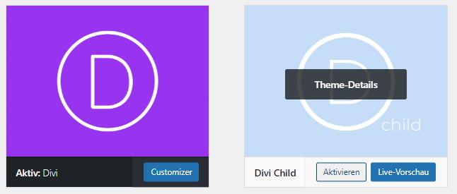 Schritt 4 - Kindthema aktivieren